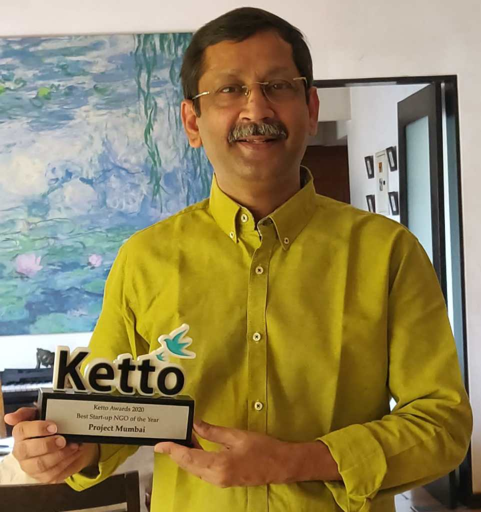 Ketto Awards 2020 Best Start-up NGO of the Year Project Mumbai Shishir